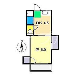 コーポサチ(高須)[2階]の間取り