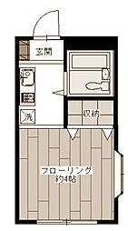 パークハウス東白楽[3階]の間取り