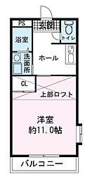 レアールマンション茜[2階]の間取り