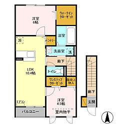 Dewa Deluxe House[203号室]の間取り