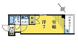 パールハウス東中野[502号室]の間取り