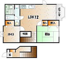 スカイメゾン A棟[2階]の間取り