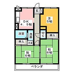 黄瀬川ハイツ[2階]の間取り