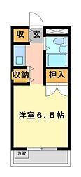 メゾン・ド・武蔵野 学生専用[3階]の間取り