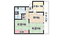 愛知県名古屋市緑区浦里5丁目の賃貸マンションの間取り