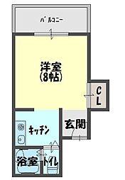 スクエアコート栄町[3階]の間取り