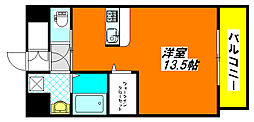 ロータリーマンション・長田東 605号室[6階]の間取り