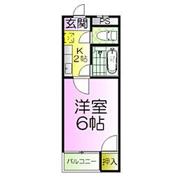 シルフィード堺[3階]の間取り