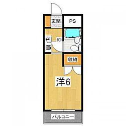 OTOWAマンション[2階]の間取り