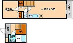 グランシール2番館[2階]の間取り