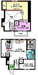 名古屋市営名城線 新瑞橋駅 徒歩6分の賃貸アパート 1階1LDKの間取り