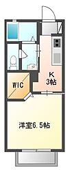 アンゼリカII[2階]の間取り