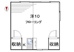中村荘[2階6号室]の間取り