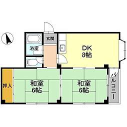 フォンタル堺東[301号室]の間取り