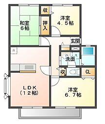 サンビレッジ花見川A〜D[2階]の間取り