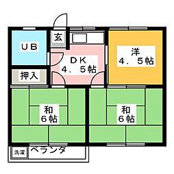 神村ハイツ[3階]の間取り