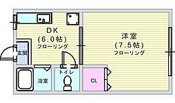 コンフォート3[2B号室]の間取り