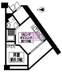 アークプラザ大岡[8階]の間取り