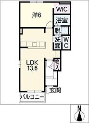 エスポワール・E[1階]の間取り