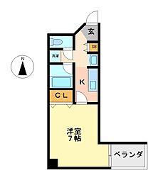 愛知県名古屋市中区千代田1の賃貸マンションの間取り