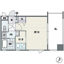 ラミナスコート[5階]の間取り