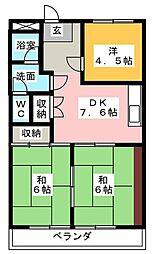 清城コーポラス[1階]の間取り