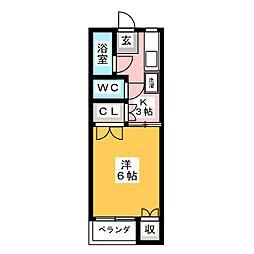 ドミトリー白樺[2階]の間取り