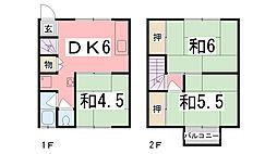 兵庫県姫路市田寺4丁目の賃貸アパートの間取り