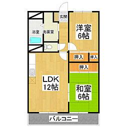 ササヤマ24[407号室]の間取り