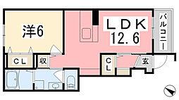 兵庫県姫路市余部区上余部前畑の賃貸アパートの間取り