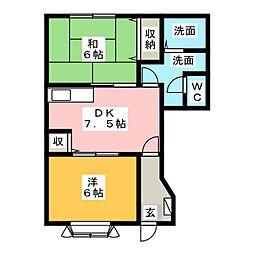 マ・グラン5[1階]の間取り