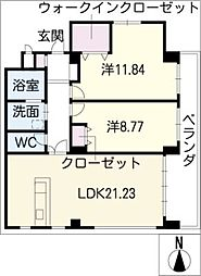 ブランメゾン覚王山[2階]の間取り