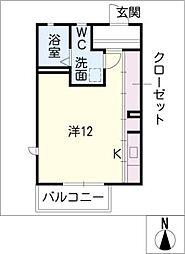 プランドール野中A棟[2階]の間取り
