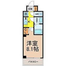 愛知県名古屋市港区港楽2の賃貸マンションの間取り