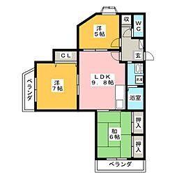 ニューライフ高宮[2階]の間取り