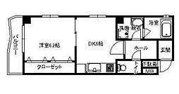 ファミール原田[3階号室]の間取り