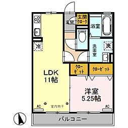 Famille Maebashi[302号室]の間取り