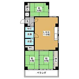 マンション葵[3階]の間取り