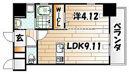 TEH HILLS KOKURA[13階]の間取り