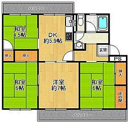 宝塚西山住宅[1-502号室]の間取り