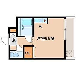 奈良県奈良市南市町の賃貸マンションの間取り