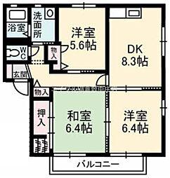 ペルレ E棟[1階]の間取り