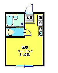 神奈川県横浜市鶴見区東寺尾4丁目の賃貸アパートの間取り