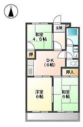 愛知県名古屋市北区東水切町3丁目の賃貸マンションの間取り