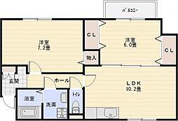 プランドールメゾン[2階]の間取り
