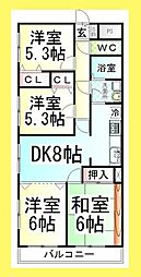DL ファミーリア風[101号室]の間取り