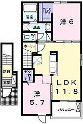 H・Tミニョン姫路[204号室]の間取り