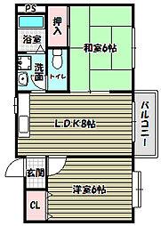ViVi HAYAMA[2階]の間取り