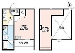 グランマーレ堺東[2階]の間取り