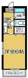 オレンジフラット下石田[104号室]の間取り